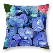 Hydrangea Drift  Throw Pillow