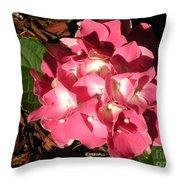 Hydrangea Flower Throw Pillow