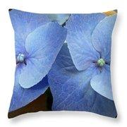 Hydrangea Flower Set Throw Pillow