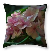 Hydrangea Flowers Throw Pillow