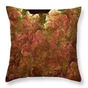 Hydrangea Fractal Blossoms Throw Pillow