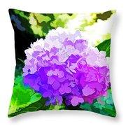 Hydrangea In Watercolor Throw Pillow