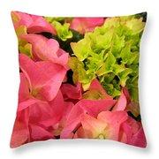 Hydrangea Joy Throw Pillow
