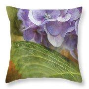 Hydrangea Portrait Throw Pillow