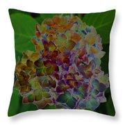 Hydrangea Solorized Throw Pillow