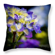 Purple Blue Hydrangea, Corona Del Mar California Throw Pillow