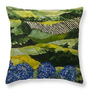 Hydrangea Valley Throw Pillow