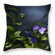 Hydrangea Violet-blue Throw Pillow