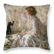 Hydrangeas, 1901 Throw Pillow