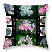Hydrangeas On Parade Throw Pillow
