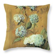 Hydrangeas Throw Pillow by Paul Cesar Helleu