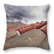 Hydroelectric Plant In Renewable Energy Concept Throw Pillow