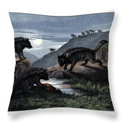 Hyena Throw Pillow