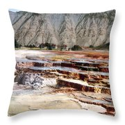 Hymen Terrace Yellowstone National Park Throw Pillow