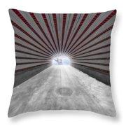 Hypnotic Playmates Arch Throw Pillow