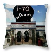 I-70 Diner In Fresco Throw Pillow