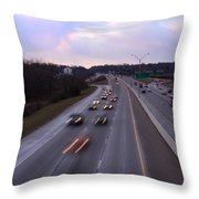 I-75 Knoxville At Dusk Throw Pillow