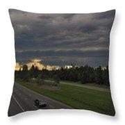 I-85 Shelf Cloud Throw Pillow