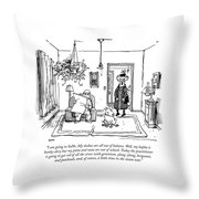 I Am Going To Soho. My Doshas Are All Throw Pillow