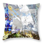 We Are Life, Liberty And The Pursuit Of Happiness, As We Create Reality Both Individually - Winter 6 Throw Pillow