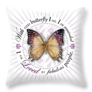 I Am Loved By Fabulous People Throw Pillow