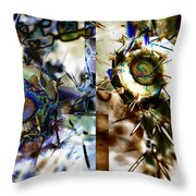 We Are Mans Force Opposite His/her Own Violence And Mans Freedom Opposite His/her Own...- Winter 5 Throw Pillow