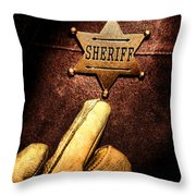 I Am The Law Throw Pillow by Olivier Le Queinec
