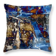 I Am.. The Long Drought  And The Hard Rain To Follow That Quenches Our Parched Souls Of...- Winter 2 Throw Pillow