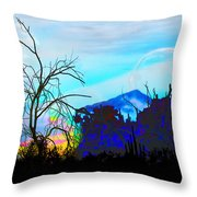 I Am And You Are The Moonset  Acknowledging And Accepting Our Past Mistakes- Autumn 1 Throw Pillow