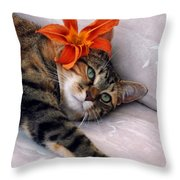 I Am Tired Throw Pillow