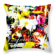I Am Worth It II Throw Pillow