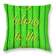 I Belong To The Sea Throw Pillow