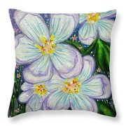 I Bloom With Courage Throw Pillow