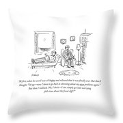 I Can Simply Get Into Worrying Full Time Throw Pillow