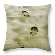 I Carried You Throw Pillow