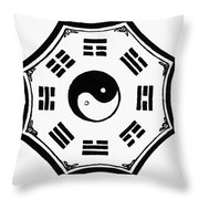I Ching Kua Throw Pillow