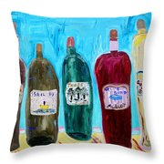 I Choose Wine By The Label Throw Pillow