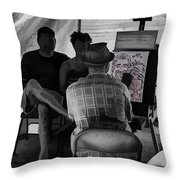 I Draw You Caricatures In Asheville Throw Pillow
