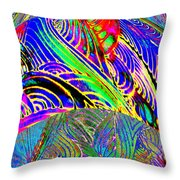 I Dreamed Of Neon Skies Throw Pillow
