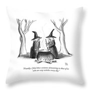 I Find Those Costumes Demeaning Throw Pillow