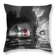 I Float On Red Throw Pillow