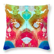 I Found Your Dog - Art By Sharon Cummings Throw Pillow by Sharon Cummings