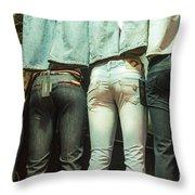I Got Jeans But I Ain't Got No Body Throw Pillow