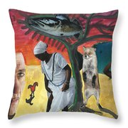 I Had Longed For Something That Would Make Me Think... Throw Pillow