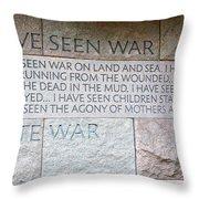 I Hate War Throw Pillow