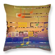 I Have Music In My Heart Throw Pillow