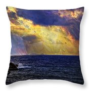 I Have Seen Fire And I Have Seen Rain Throw Pillow