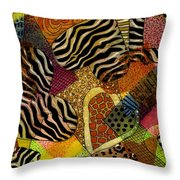 I Heart Animals Throw Pillow