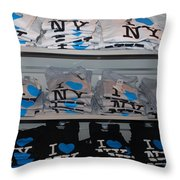 I Heart N Y Throw Pillow