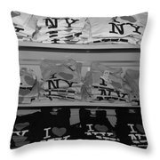 I Heart Ny In Black And White Throw Pillow